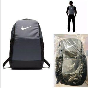 New Nike Backpack Brasilia Grey Rucksack